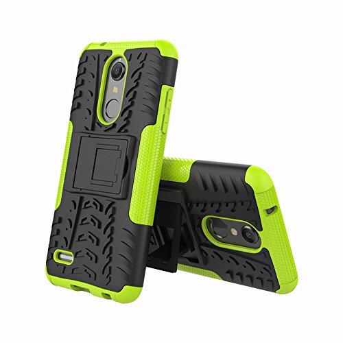 """XMTN LG K11,LG K10 (2018) 5.3"""" Custodia,2 in 1 Silicone TPU e Hard PC Case Cover Dual Armatura Bumper Case Telefono Protettiva Custodia per LG K11,LG K10 (2018) Smartphone (Verde)"""