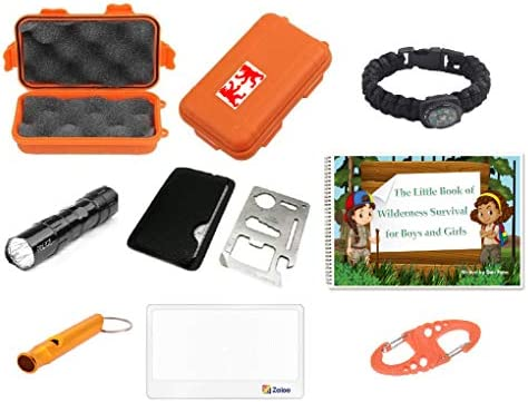 Outdoor Adventure Kit for Boys and Girls The Little Book of Wilderness Survival Waterproof Box product image