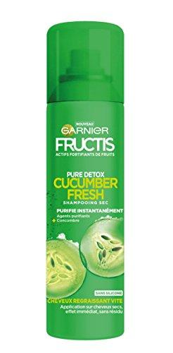 Garnier Fructis Champú Seco Pure Detox Cucumber Fresh 150ml–[Confezione da 3]