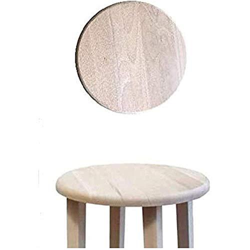 Ricambio in legno massello rotondo,ricambio per seduta da sgabello,grezzo da verniciare Diamentro cm 32