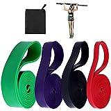 Elastici Fitness, 4 Pezzi Bande di Resistenza da 15 lb a 125 lb, Bande Elastiche Fitness per Crossfit, Stretching, Yoga, Pilates, Allenamenti di Resistenza, Potenziamento Muscolare, con Borsa