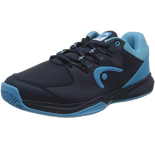 HEAD Grid, Zapatillas para Squash Hombre, Azul Oscuro Aqua, 42 EU