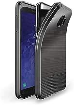جراب خلفي لهاتف Samsung Galaxy J4 2018 DUX DUCIS MOJO Series من ألياف الكربون المصقول TPU - أزرق