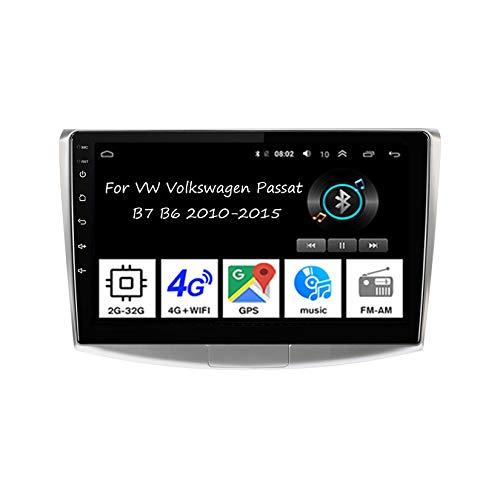 Android Doppio Din Car Stereo 9 Pollice Touchscreen Autoradio Per VW Volkswagen Passat B7 B6 2010-2015 Accessori Auto Multimedia Controllo del Volante con Navigazione Plug And Play,4 Core 2G+32G