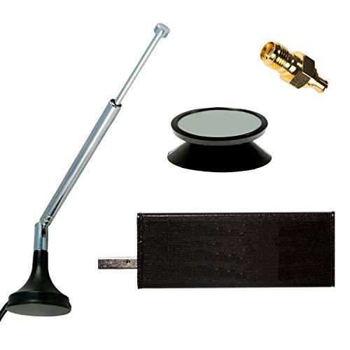 NooElec NESDR Mini 2+ al: 0.5PPM TCXO RTL-SDR, ADS-B e DVB-T Set Ricevitore USB con Custodia e Antenna. Sintonizzatore RTL2832U e R820T2. Software Radio Compatibile con la Maggior Parte del Software