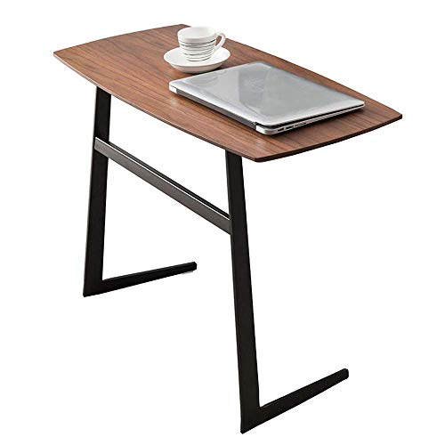 Escritorio de oficina en casa Hierro forjado sencilla mesa de café pequeño sofá de madera maciza de esquina amovible varios mesita de noche nórdica lado pequeño escritorio escritorio plegable