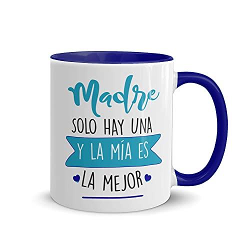 Kembilove Taza regalo día de la madre – Tazas Desayuno para Mamá con Mensaje Madre solo hay una y la mía es la mejor – Tazas originales – Regalo para madres