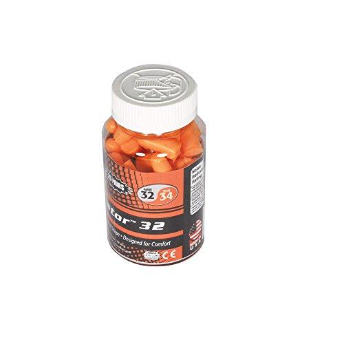 Radians 25 Pair Disposable Uncorded Foam Earplugs, Orange (FP70RD/25)
