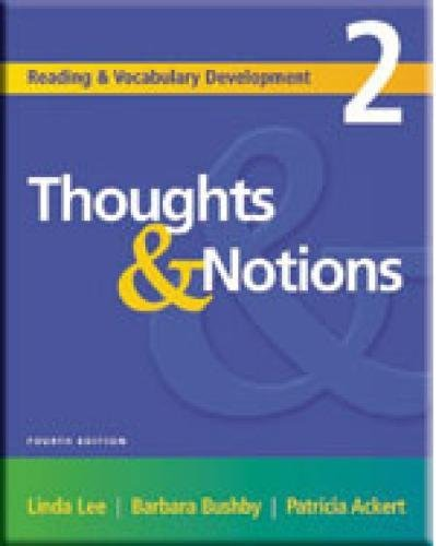 Thoughts & Notions, Second Edition (Reading & Vocabulary Development 2)