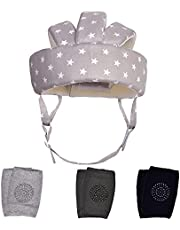 TORASO Baby Head Protector & Baby Knee Pads for Crawling, Infant Safety Helmet & Walking Baby Helmet, Lightweight and Soft Headguard for Baby Learning to Walk