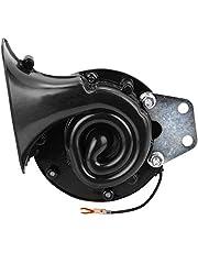 KKmoon claxon, luide 300 dB, 12 V, elektrische slak, voor auto, motorfiets, vrachtwagen, boot, zwart