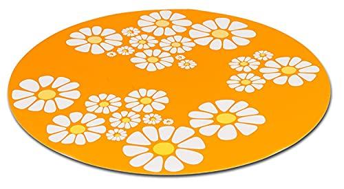 PETGARD Unterlegmatte für Trinkbrunnen Little Flower orange 35,5 cm