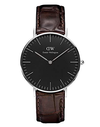 Daniel Wellington Unisex Analog Quarz Uhr mit Leder Armband DW00100146