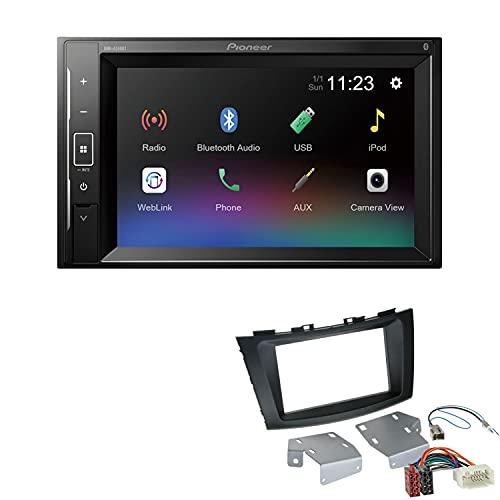 Pioneer DMH-A240BT 2-DIN Autoradio Bluetooth USB passend für Suzuki Swift IV ab 2010 schwarz