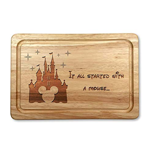 It All Started with A Mouse Housewarming Christmas Chopping Board Gift