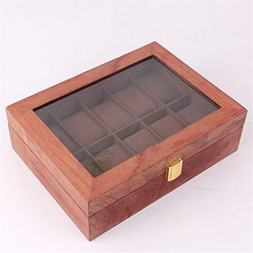 Aiglen Boîte de montre boîte d'affichage de montre boîte de rangement de table cadeau boîte de montre pour hommes femmes boîtes d'affichage meilleur cadeau 12 fentes (Color : A)