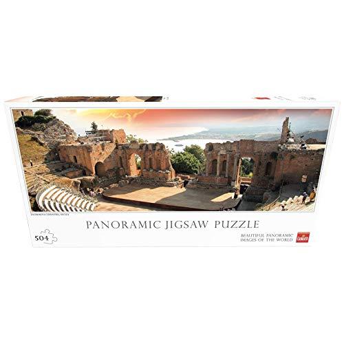 Goliath- Rompecabezas para Toda la Familia Puzzle Panorámico Teatro Taormina - Italia (71408012)