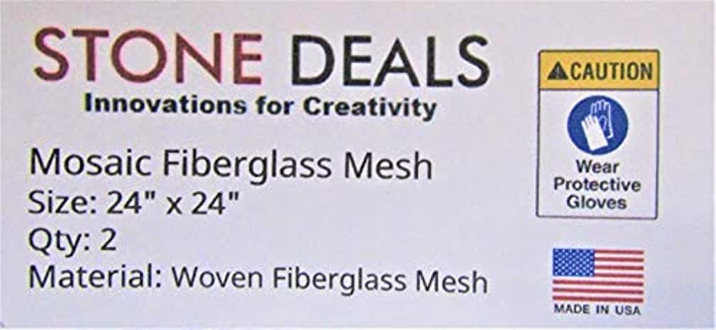 Stone Deals Mosaic Mesh for Back Mounted Tile, 24 Inches Wide by 24 Inches Long - Pack of 2