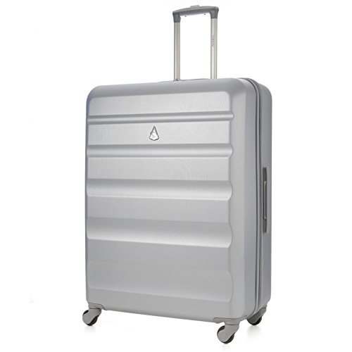 "Aerolite Large 29"" ABS Hard Shell Hold Luggage Suitcase Travel Trolley Case 4 Wheels (Silver)"