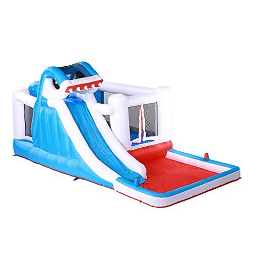 Aufblasbare Kinderburg Großes Trampolin Aufblasbarer Rutschenwasserpark Kletterwand For 5~8 Kinder Zum Spielen Aufblasbare Wasserrutschen (Color : As shown, Size : 480 * 280 * 225cm)