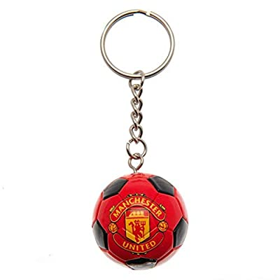 Manchester United FC Soccer Ball Keyring (One Size) (Red)