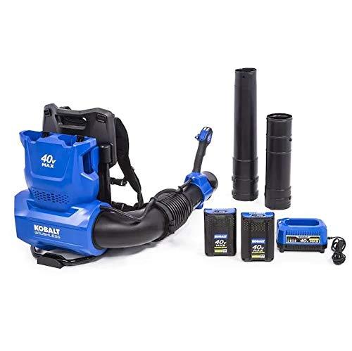Kobalt 40-Volt 135-MPH Brushless Backpack Cordless Electric Leaf Blower 4 Ah (Battery Included and Charger Included) -  KBT, KBB 4240-06