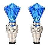 *Lovelegis - Dues llums per a rodes de bicicleta - Vàlvula de pneumàtics - *Lucinas - Efecte LED - Accessoris d'il·luminació - Ciclisme - Bicicleta - Nens - Adults - Amb *Frama de diamant - Color blau