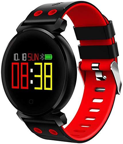 Sport3 Smart Watch mannen bloeddruk, IP68 waterdicht fitness tracker horloge smartwatch voor iOS Android draagbare apparaten 0,95 inch OLED 3D Radian Display (kleur: zwart)