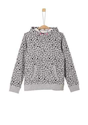 s.Oliver Mädchen 66.909.41.2353 Sweatshirt, Grau (Grey Melange 94b7), 152 (Herstellergröße: M/REG)