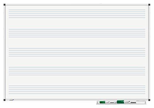 Legamaster 7-101943 Whiteboard Premium Notenlinien, 90 x 60 cm weiß