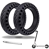 OUXI 2 Pack <span class='highlight'><span class='highlight'>Xiaomi</span></span> M365 Solid Tyre, Puncture Proof Electric Scooter Tyres Flat Free Tire Replacement Wheel 8.5 Inch Explosion Proof Rubber Honeycomb Front/Rear for <span class='highlight'><span class='highlight'>Xiaomi</span></span> Mijia M365 Pro