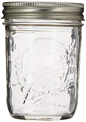 Ball Half Pint (8 oz.) Regular Mouth Mason Jars w/ Cap - Set of 12 AEP
