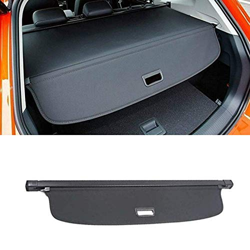 MotorFansClub Retractable SUV Cargo Shade Cover Fit For Compatible With Volkswagen VW Tiguan 2018 2019 Rear Trunk Luggage Black