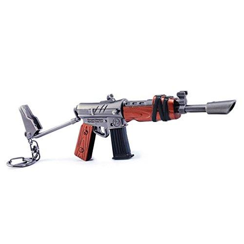 Games metal 1/6metal Uzi Sniper rifle Gun Model Action Figure Arts Toys Collection Keychain Gift