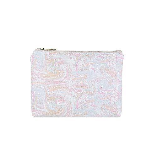 Jewelcity Damen Make-up-Tasche, flach, marmoriert, Pastellfarben Gr. Einheitsgröße, mehrfarbig