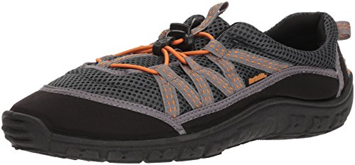 Northside Unisex Brille II Athletic Water Shoe,Grey/Orange,10 M US