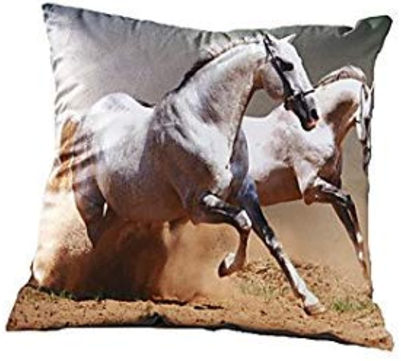 3D Design Print Horse Decorative Throw Pillow Case Cushion Cover for Sofa Home Decor Polyester Soft Material  04856589