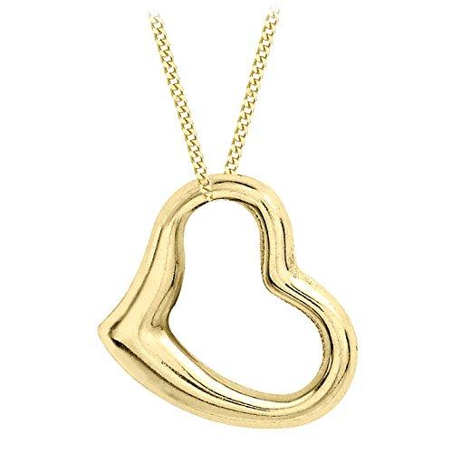 Carissima Gold Collana con Pendente da Donna in Oro Giallo 9K (375), Catena di Corte Diamante, 41 cm