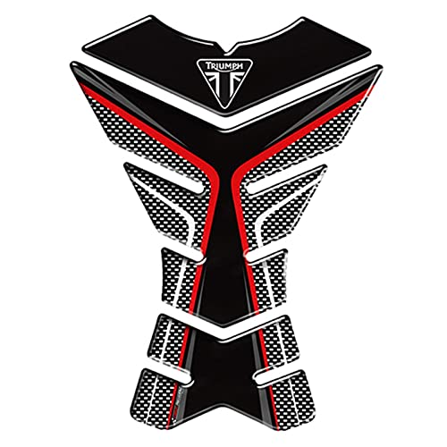 Protector Tanque Moda 3D Accesorios para Motocicletas Protector de Tanques Pegatinas de Motocicletas Calcomanías Caja de la Caja para Triumph 675R Tiger 800 XC Triplo de Velocidad (Color : Color 1)