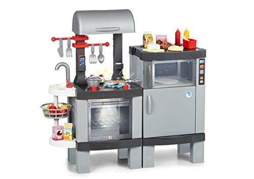 Chicos Cooking Plus 2en1 Barbacoa Infantil con Efecto de Cocina Real: Los Alimentos cambian de Color Cuando se cocinan en el fogón LED. Incluye 31 Accesorios. (La Fábrica de Juguetes 85110)