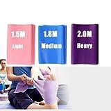 DoGeek-3x Bandas de Resistencia para Pilates Yoga, Ballet, Gimnasia y rehabilitación. (Rosa, Morado,Azul)