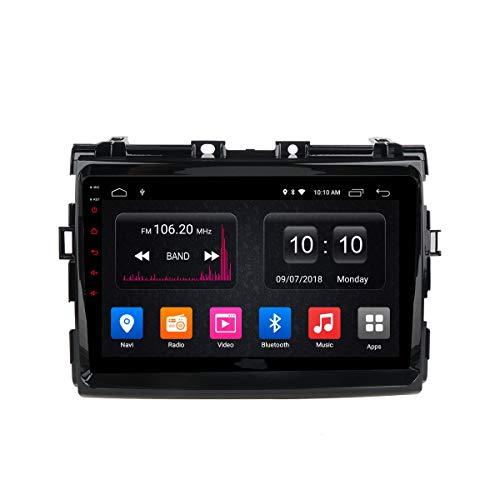 Radio Estéreo De Coche para Toyota PREVIA 2006-2012 Sat Nav con Reproductor De DVD Navegación GPS Pantalla Táctil Control del Volante Bluetooth