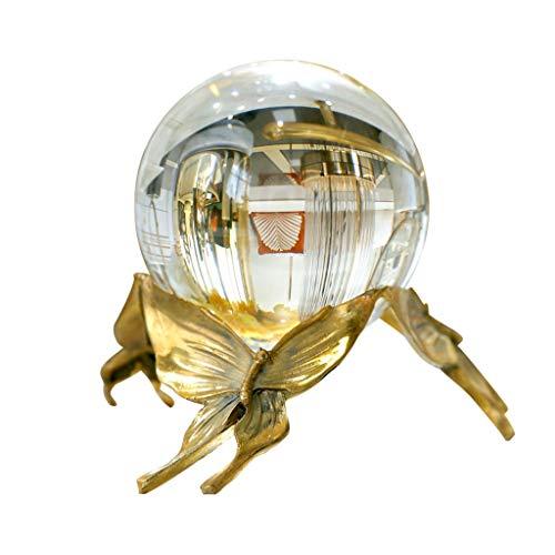 Adivinación con Bola de Cristal Decoración de la Sala de Estar, Estilo Europeo del Cobre del Oro Bola de Cristal Crafts Estudio del Dormitorio del hogar y Otros Regalos Ideales Bola de Cristal