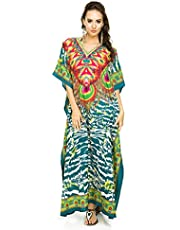 Nieuwe Dames Oversized Maxi Kimono Kaftan Tuniek Kaftan Jurk Gratis Maat