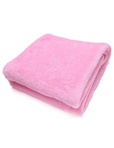 Tiowea warme dikke flanel sofa Throw blankets op bed Home sprei 50X70CM roze