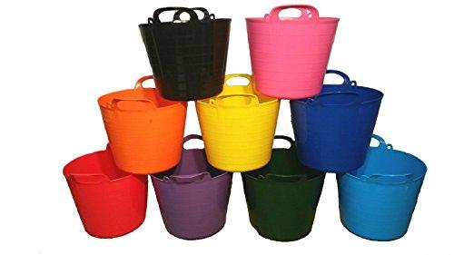 KetoPlastics Pack Of 5-40 Litre Garden Trug/Flexi Tub/Gorilla Bucket (Made...