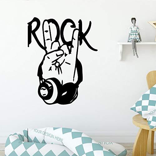 Delicate Rock Pegatinas de Pared Decoración para el Hogar Dormitorio de las Niñas Pegatina Dormitorio Decoración Niños Niñas Arte Mural gris XL 58 cm X 72 cm
