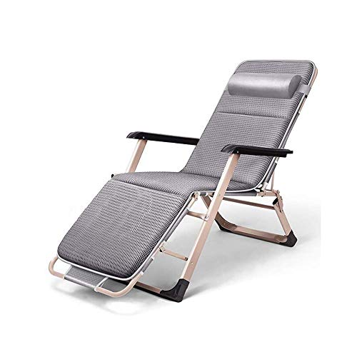 SBDLXY Folding Reclining Chair Leisure Lounge Chair Zero-Gravity Armchair for Indoor Nap Lazy Chair Outdoor Travel Beach Camping Garden Deck Reclining Chair