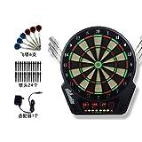 TTJZ Dardos electrónicos Conjunto, 17 en Pantalla Punta Blanda Diana LED Set con 6 Dardos, 24 extremidades, Adaptador de Corriente, Opción Multi-Game Ready-To-Play