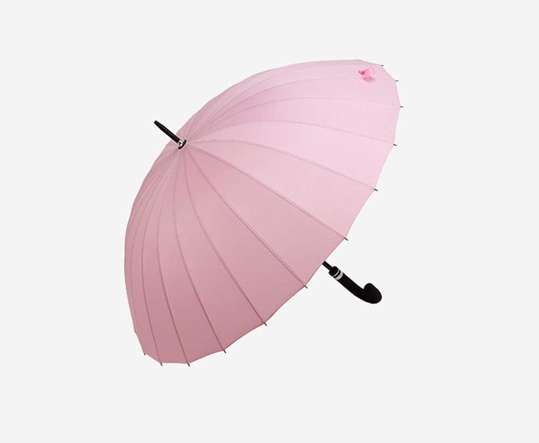 Blossom Umbrella, Women's Double Straight Umbrella Reinforcement Windproof Foldable, Non-Slip Handle Windproof Umbrella, ZDS